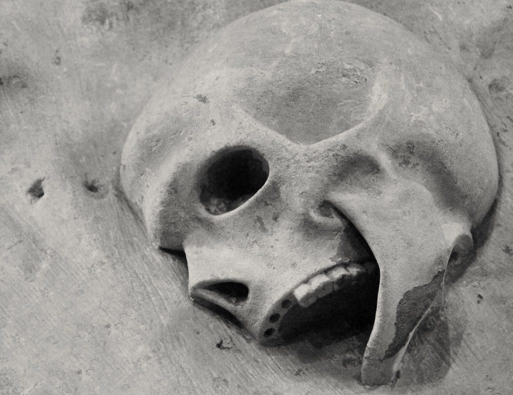 église de jérusalem, crâne, bruges