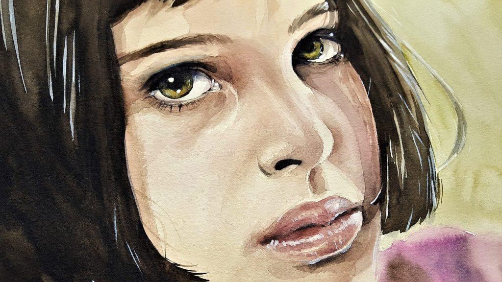art, peinture, femme