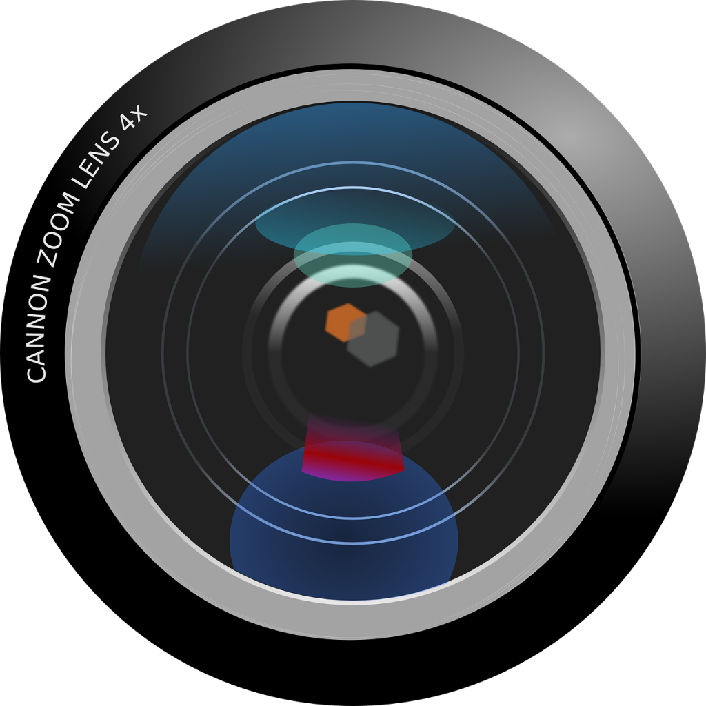 lentille, appareil photo, cam